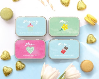 Personalised Mother's Day Chocolate Keepsake Gift Tin