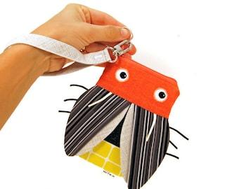 Firefly Zipper Pouch - iPhone Wristlet - Lightening Bug Coin Pouch - Kids Gadget Bag - Teen Gift, Phone Case