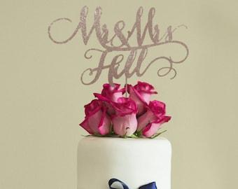 Rustic wedding cake topper, Custom Mr and Mrs cake topper, Personalized wedding cake topper, Unique wedding cake topper