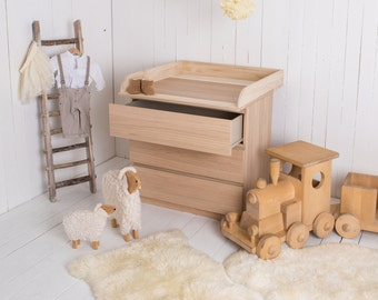 Puckdaddy Nils changing top unit 80x78x10cm natural for the IKEA Malm