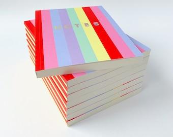 Olivia Rubin x Etsy Rainbow Stripe Notebook