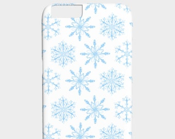Snowflakes iPhone Case - Snowflakes Phone 6 Case - Watercolor Snowflakes iPhone 6s Case - Winter Fashion - The Mad Case