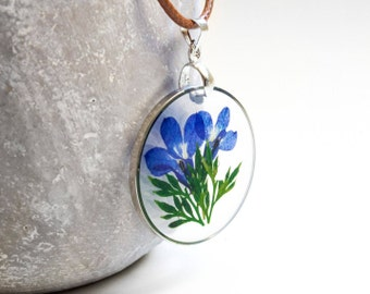 Flower image in blue
