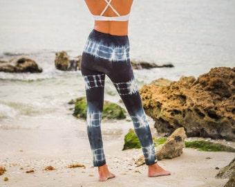 Organic Yoga Leggings - Cropped Tie Dye Leggings - Bamboo Yoga Pants
