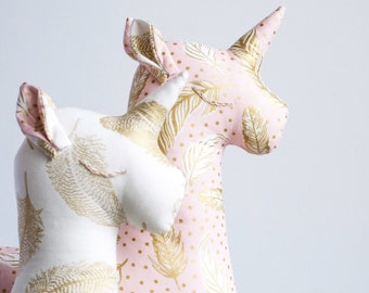Unicorn Linen Toy, Baby's First Christmas Gift