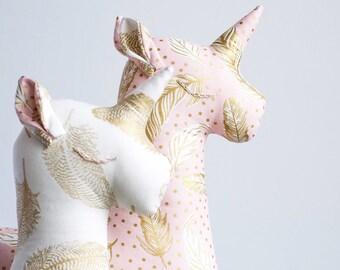 Unicorn Plush - Stuffed Unicorn Toy - Unicorn Nursery Decor - Unicorn Birthday Gift