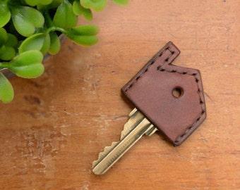 Leather House Key Topper, Key Cap, Home Key Topper, Key Cover, Housewarming Gifts