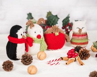 Christmas decorations / knitting pattern / knitting kit / knitting pattern for toys / rendeer / owl / knitting pattern Christmas