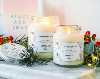 Olivia Rubin x Etsy Sweet Cinnamon Scented Large Jar Candle — Exclusive Vegan Soy Hopscotch Candle — Limited Edition Candle