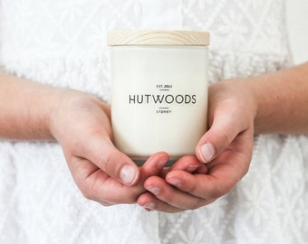 FRESH COFFEE | Small 30+ Hour Burn Soy Wax Candle | Crackling Wood Wick | Hand poured | Hutwoods