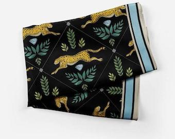 Cheetah Print Silk Scarf