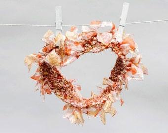 Handmade Wedding Headband - ANNAMARIAANGELIKA - Silk Featherbandeau, Upcycled Silk, Handknit, Bridesmaids, Festival, Hair Accessory, Prom