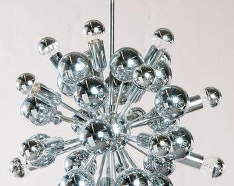 Reserved for Andrea: 60 cm big, original (!) Sputnik Lamp/ Pendler of the 1960'S / 1970's, Produced by Temde