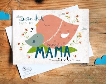 "Postcard ""Thank you Mama"""