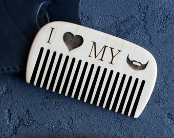 Personalized Comb Pocket Beard Hair Mustache Comb Brush Engraved Comb for Men Grooming Kit Gift for Boyfriend Brother Boss Colleague