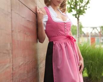 Trachten Midi Dirndl - Trachtenkleid  pink,  blau German Dirndl Dress Oktoberfest Outfit
