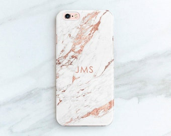 Personalized Gift iPhone XS Max Case Rose Marble iPhone 11 Pro 8 Plus Xr 6S Custom Phone Cases Gift Ideas for Women Her CG-MARRO