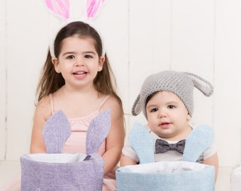 Panier de Pâques, panier de Pâques personnalisé, monogramme panier de Pâques, panier de filles, panier de garçons, panier de Pâques filles, monogram, toile de jute, lapin