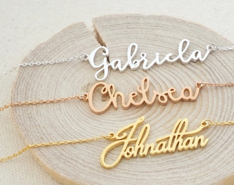 Personalized Name Necklace • Dainty Custom Name Necklace • Children Necklace • Bridesmaids Gifts • New Mom Gift • MOTHERS GIFT • NH02F18
