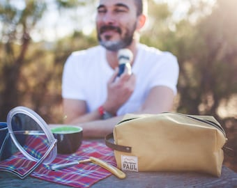 Duck Canvas Men's Dopp Kit with Leather Handles