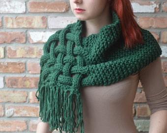 PATTERN SALE Knit cowl scarf pattern - Package of 2!  Knit woven scarf, knit cowl scarf, cowl, knitting pattern, tutorial