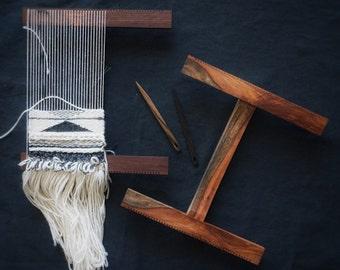 Weaving Loom: Tapestry Weaving Hand Loom and Needle Handmade in Hardwood