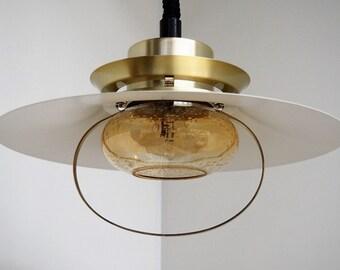 Mid century modern brass pendant from the Danish company Vitrika, 1960s