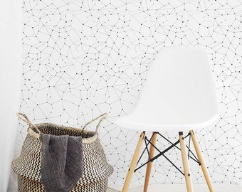 Nursery Constellations Removable Wallpaper, Stars In The Sky, Ceiling, Temporary & Traditional material