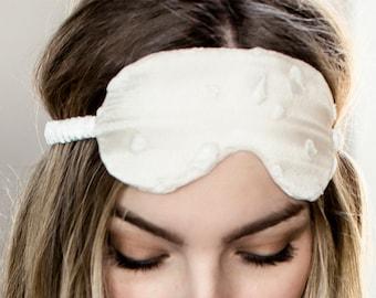 Wedding Bride Silk Sleep Mask White Lingerie Mother's Day / JANUS Sleep Mask - Alabaster