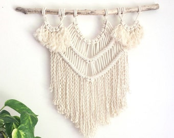 Macrame KIT Wall Hanging DIY || Driftwood + Cotton Rope + Pattern || Creative Gift || Simple Easy Design for Beginner