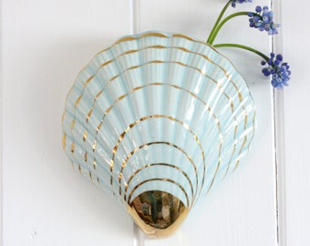 Vintage Sea Shell Wall Vase Planter