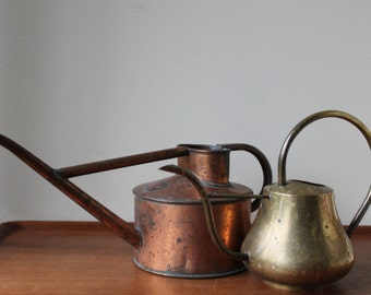Vintage French Style Copper Water Can Indoor Plants Gardening, Boho Chic, Rustic