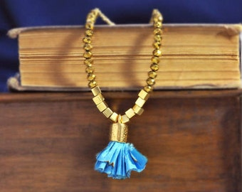 Inspirational Beaded Necklace - Tassel Necklace -  Handmade Jewelry - Free Shipping - Gift Box
