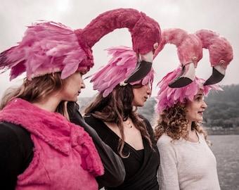 flamingo costume headdress