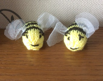 Hand knit bumble bees