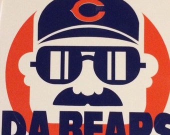 """Chicago Bears Ditka NFL Decal 4.5""""x 4.5""""."""