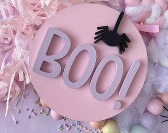 BOO! Halloween plaque, Halloween sign, Halloween plaque, BOO!  plaque, halloween decor, story corner