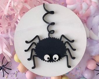 Spider  Halloween plaque, Halloween sign, Halloween plaque, spider plaque, spider decor