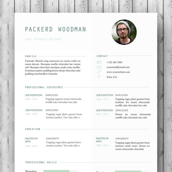 teacher resume template cv for ms word 1  u0026 2 page resume