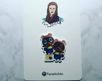 Animal Crossing Timmy Tommy Needle Minder Cross Stitch