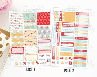 Hot Air Balloon Mini Weekly Kit of Planner Stickers