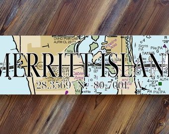 Green Vinyl on White 4X17 Aluminum Street Sign MERRITT LN Island Beach Resort Town