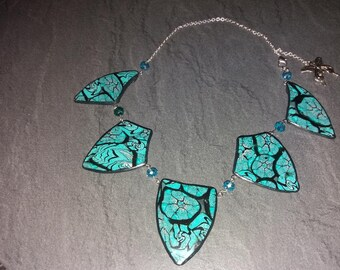 Ceramic and silver necklace