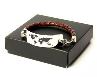 Travel Bracelet / Wanderlust Bracelet / World Map Bracelet / Travel Gift / Travel Jewelry / Gifts for Travelers / Adventure