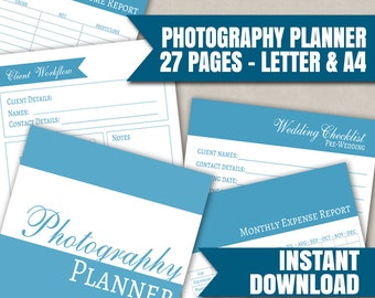 Photographers excel planner spreadsheets for business etsy photographers planner printable organizer portrait planner diary instant download pdf printables 27 page planners wedding photographer reheart Choice Image