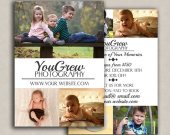 Marketing template, instant download marketing set for photographers, photoshop template, flyer photo set