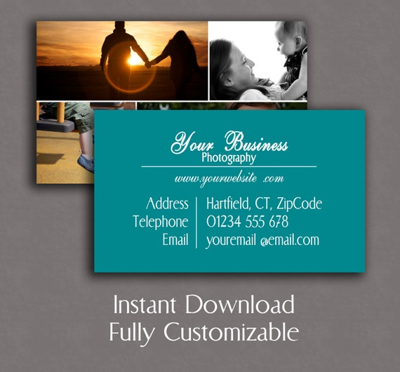 Photography business card template photographer marketing etsy image 0 fbccfo Images