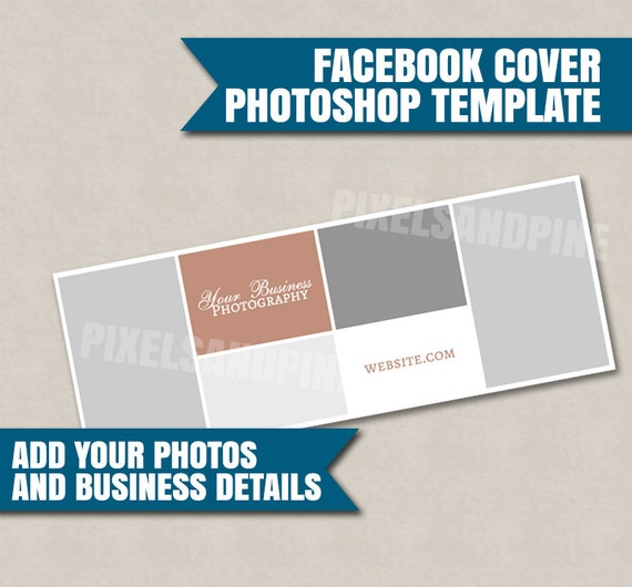 Photoshop facebook cover template brand your business etsy photoshop facebook cover template brand your business facebook page templates facebook photoshop cover business page facebook psd files accmission Gallery