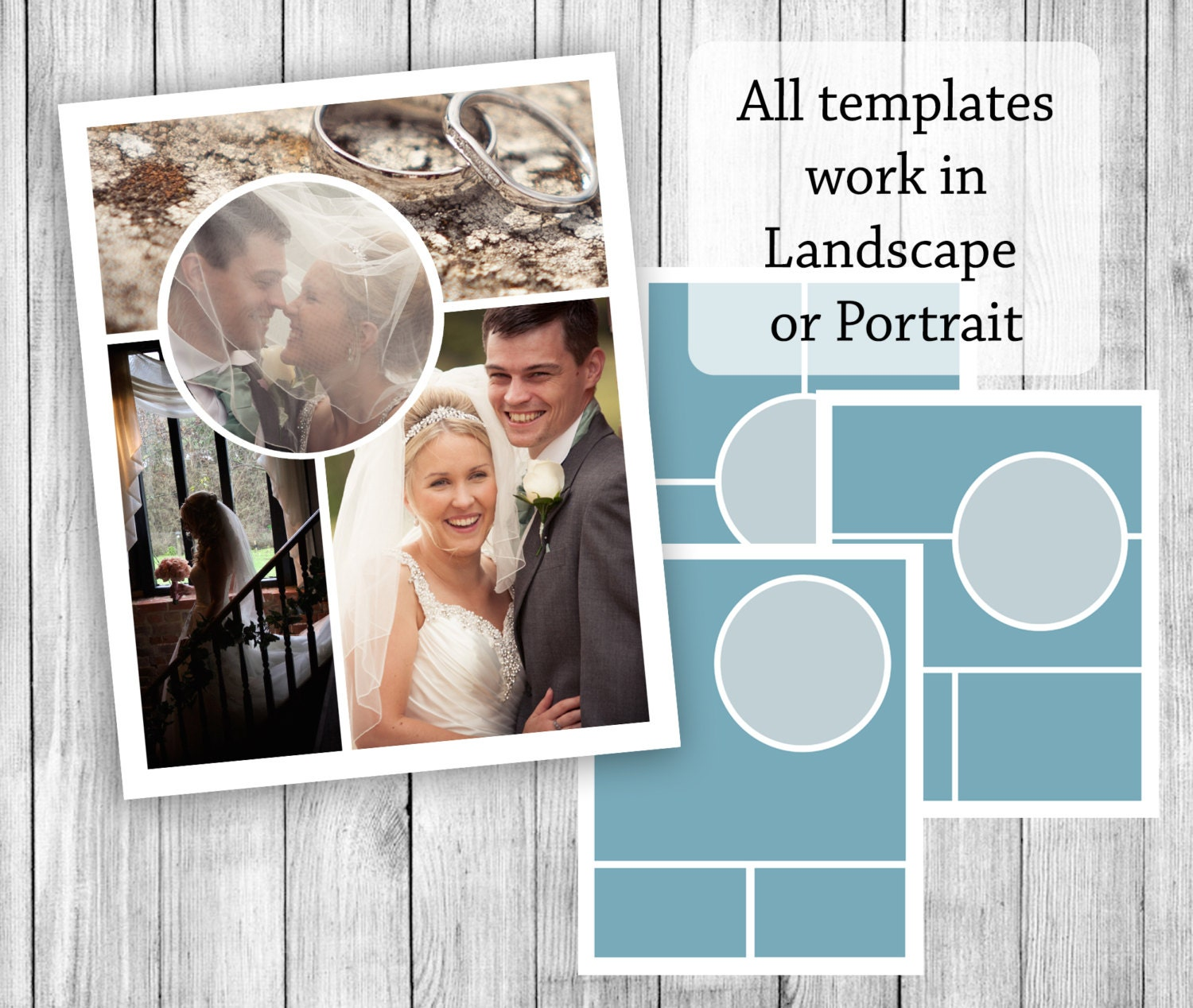 Collage Templates 10pc Photoshop Storyboards 8x10 Templates Etsy