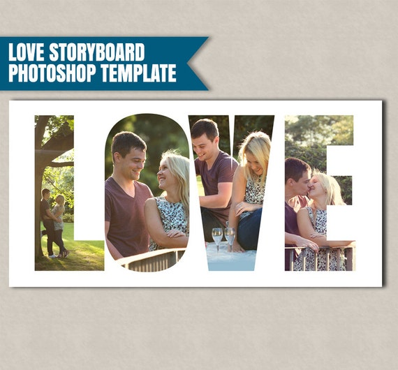 Love Storyboard Photoshop Template Photographer Storyboard Templates Marketing Photographers Psd Files Storyboard Love Photoshop